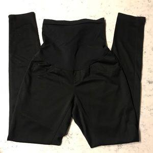 Motherhood Skinny Ankle Maternity Black Pants